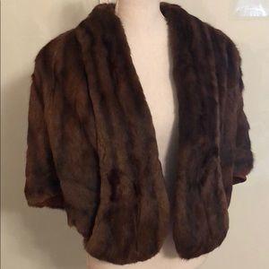 Jackets & Blazers - Mink cape chocolate brown